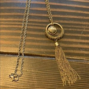 Dark gold necklace with pendant